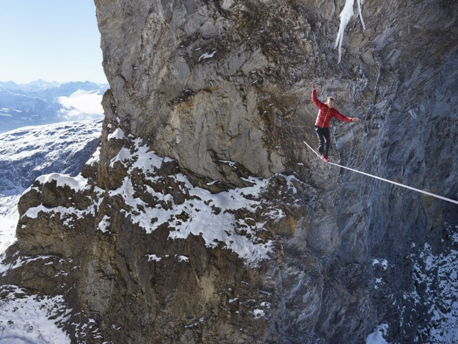 Photo: Stephan Siegrist - Martinsloch Highline